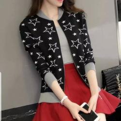 Jaket Wanita Motif Bintang Model Terbaru