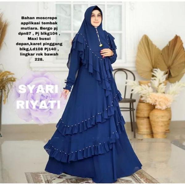 Model Baju Gamis Syari Mutiara Modern Terbaru