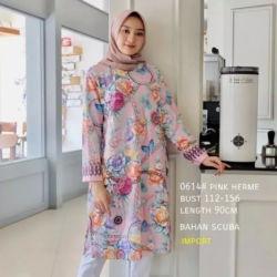 Model Baju Tunik Atasan Wanita Motif Terbaru