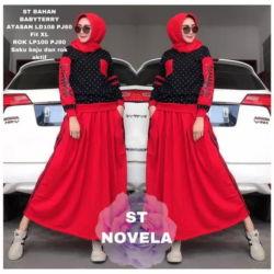 Setelan Baju dan Rok Panjang Muslim Modern