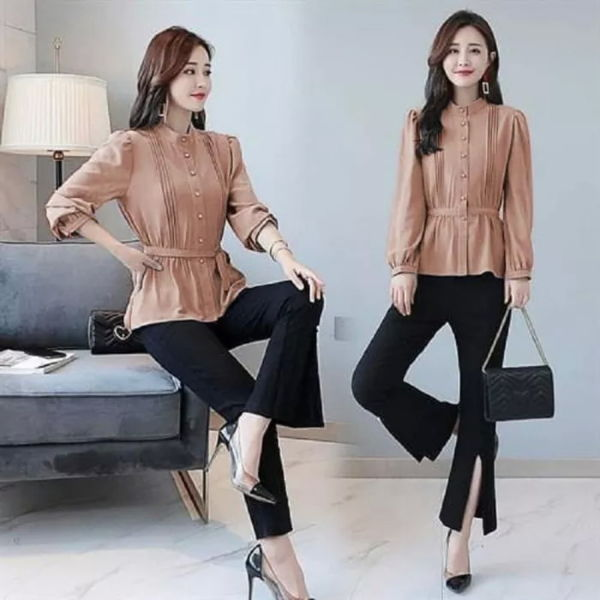 Setelan Wanita Casual Ala Korea Model Terbaru