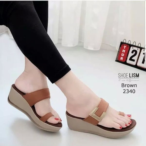 Sandal Wedges Wanita Simple Model Terbaru