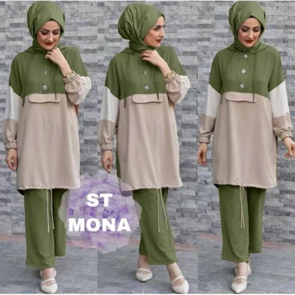 Setelan Celana dan Baju Muslim Wanita Murah