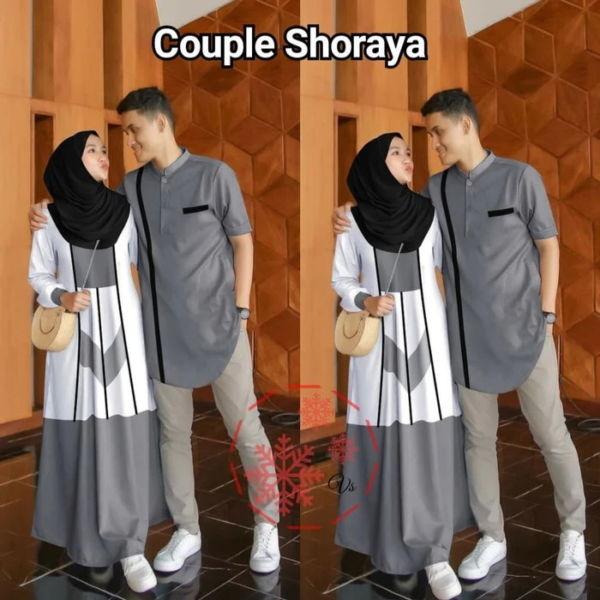 Baju Couple Gamis dan Kemeja Muslim Modern