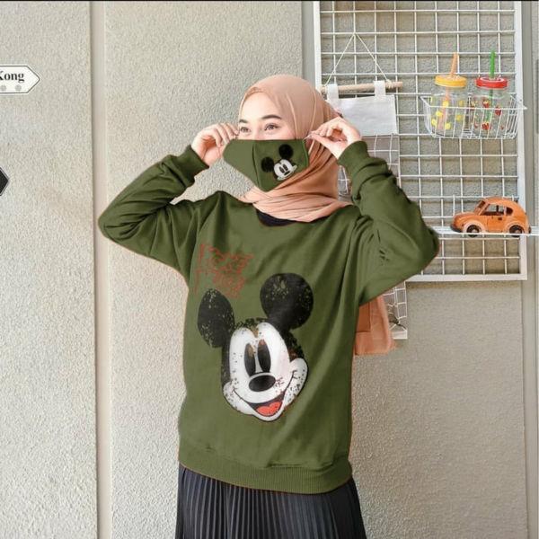 Baju Sweater Wanita Free Masker Harga Murah