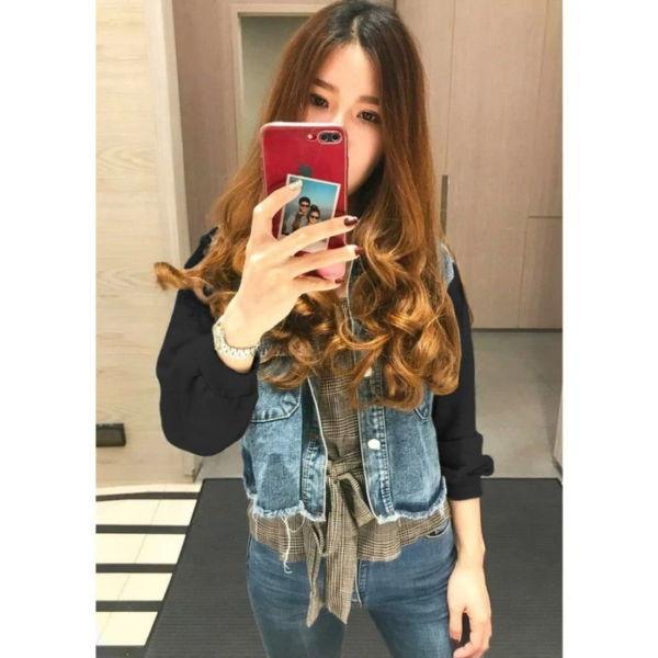 Jaket Jeans Wanita Kombinasi Warna Keren