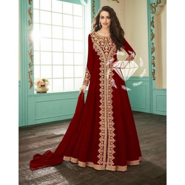 Model Baju Gamis India Muslim Bordir Modern