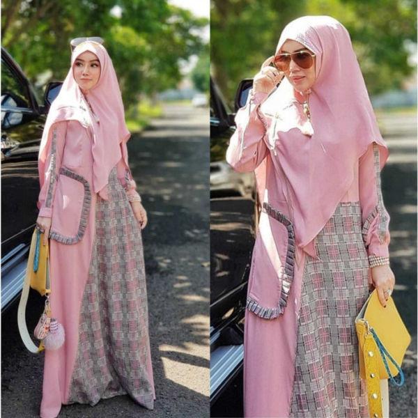 Setelan Baju Gamis Syari dan Jilbab Harga Murah