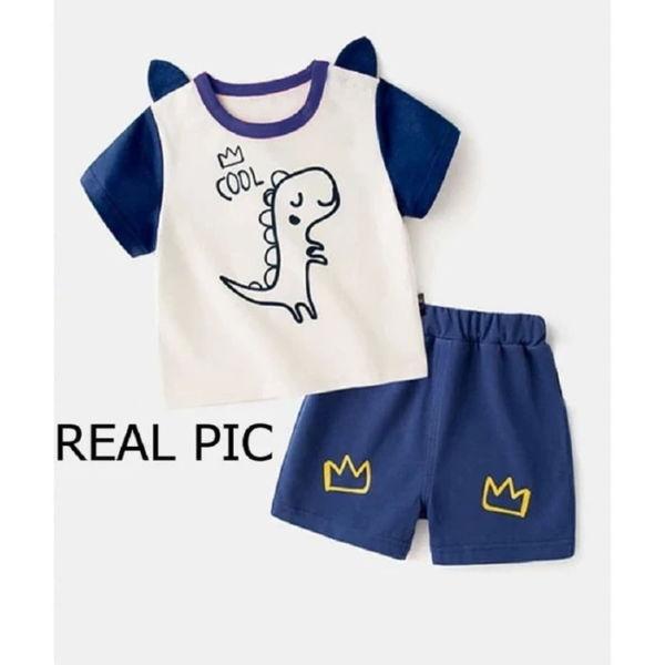 Setelan Baju dan Celana Pendek Anak Cowok