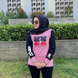 Baju Kaos Wanita Lengan Panjang Masa Kini