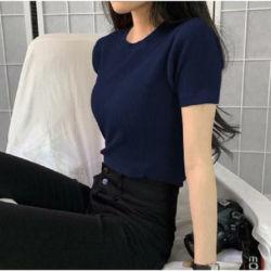 Model Baju Atasan Wanita Lengan Pendek Rajut