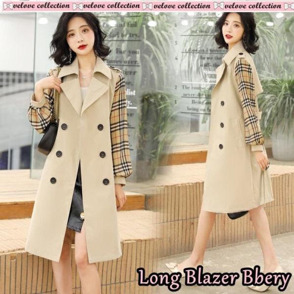 Outer Blazer Long Coat Modern Harga Murah