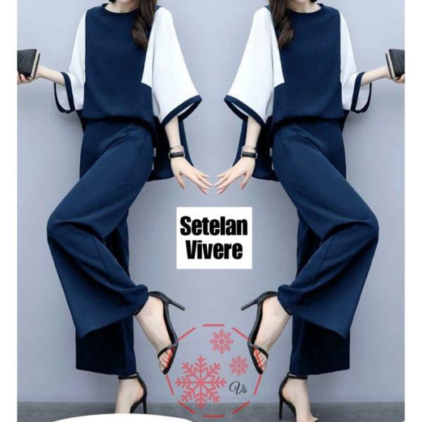 Setelan Baju dan Celana Wanita Ala Korea