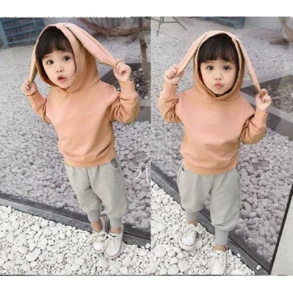Setelan Sweater Hoodie dan Celana Panjang Anak