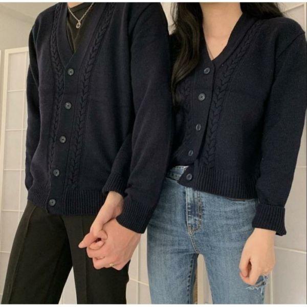 Baju Couple Cardigan Rajut Pria dan Wanita