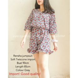 Baju Jumpsuit Pendek Wanita Motif Cantik Modern