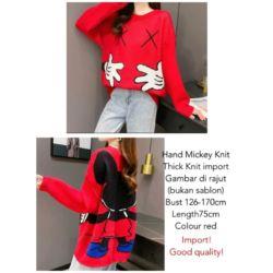 Baju Sweater Rajut Gambar Mickey Mouse Import