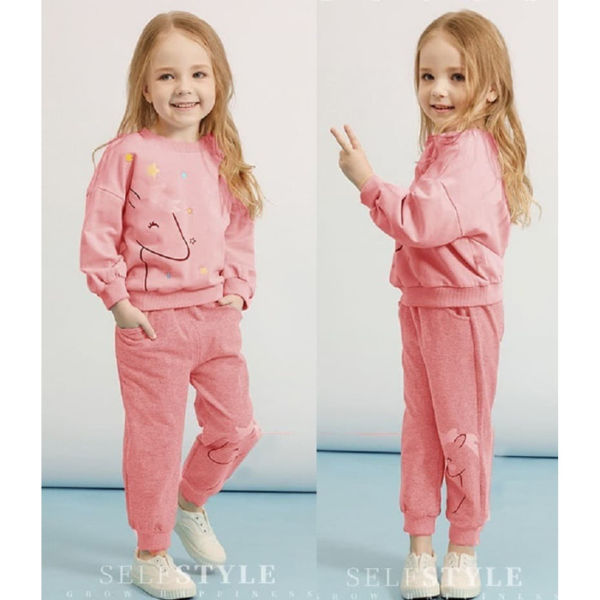 Setelan Sweater dan Celana Panjang Anak Cewek