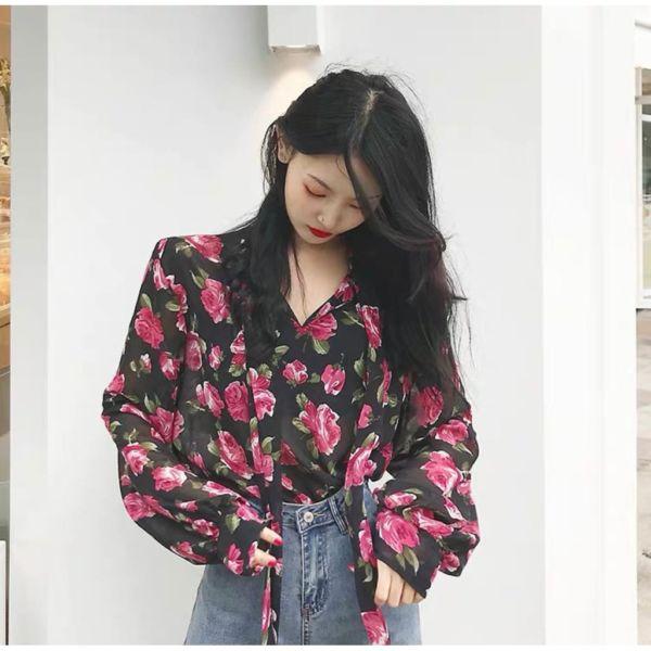 Baju Atasan Wanita Cantik Bahan Sifon Motif