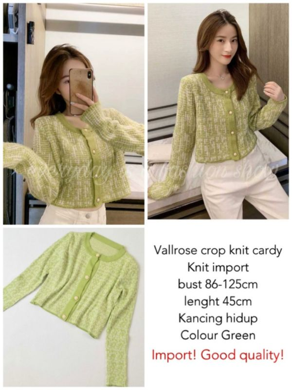 Baju Cardigan Pendek Crop Knit Cardy Model Terbaru