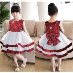 Baju Dress Anak Bahan Scuba Kombinasi Tille Cantik