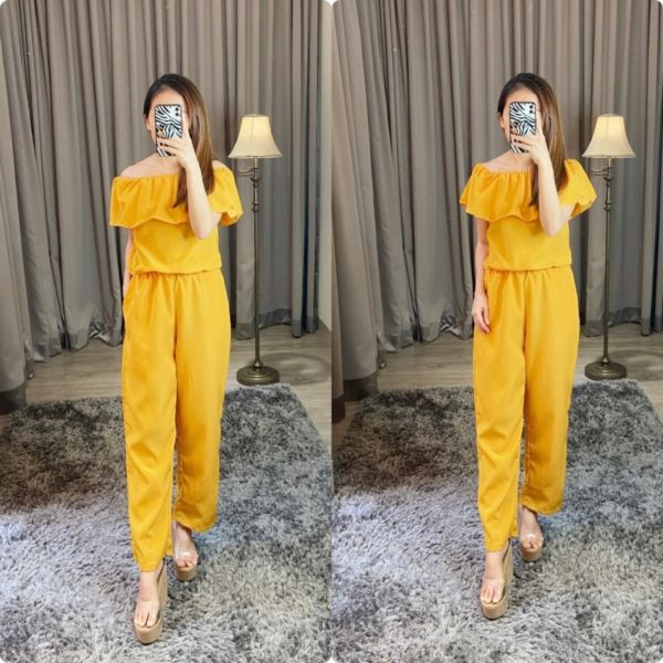 Baju Jumpsuit Panjang Model Sabrina Terbaru