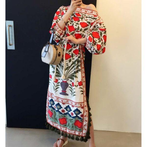 Baju Long Dress Maxi Gamis Import Motif Cantik