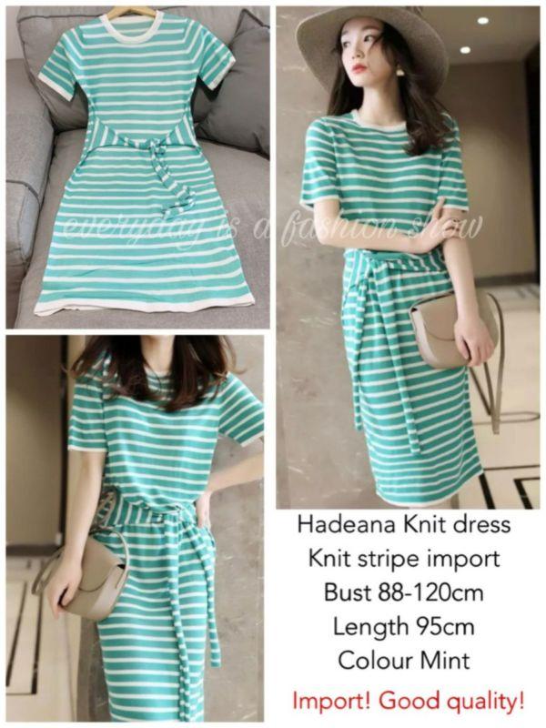 Baju Mini Dress Pendek Hadeana Knit Dress Modern