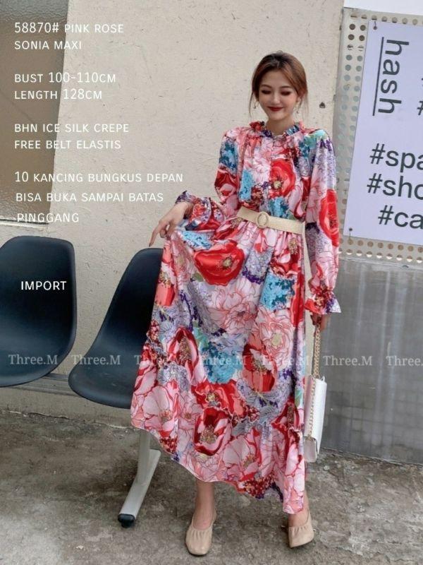 Fashion Baju Gamis Model Terbaru Cantik Ala Korea