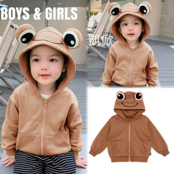 Jaket Frog Hoodie Anak Laki-laki & Perempuan Model Terbaru