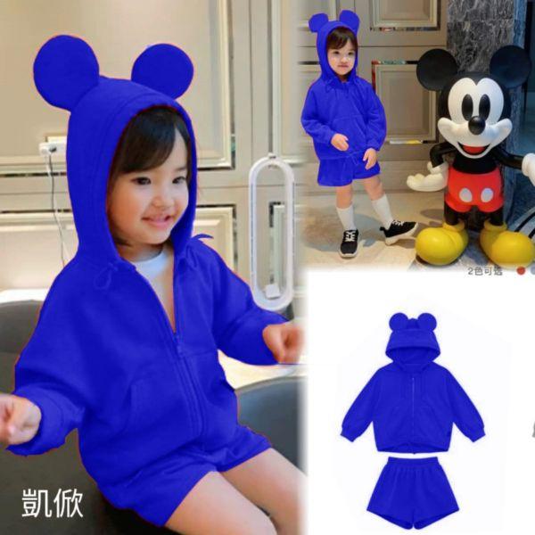 Jaket Mickey Hoodie Anak Laki-laki dan Perempuan Modern