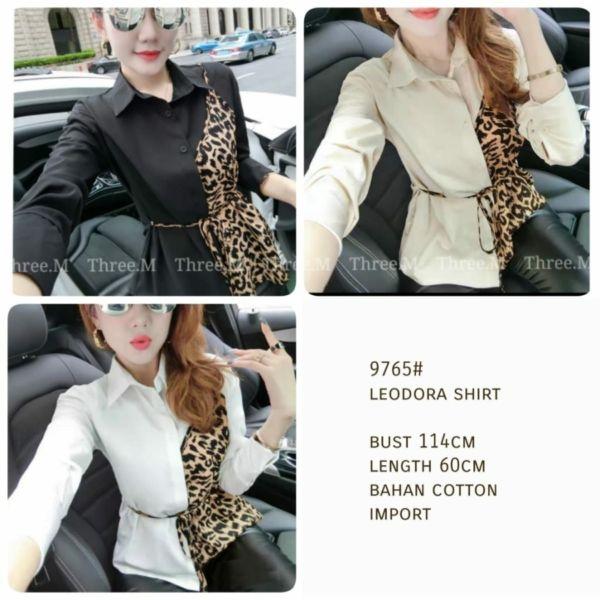 Model Baju Atasan Wanita Lengan Panjang Leodora Shirt