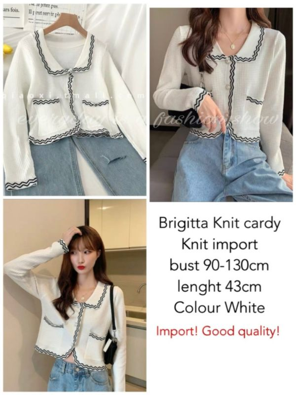 Outer Cardigan Bahan Knit Import Ala Korea