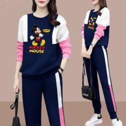 Setelan Baju dan Celana Panjang Jogging Mickey Mouse