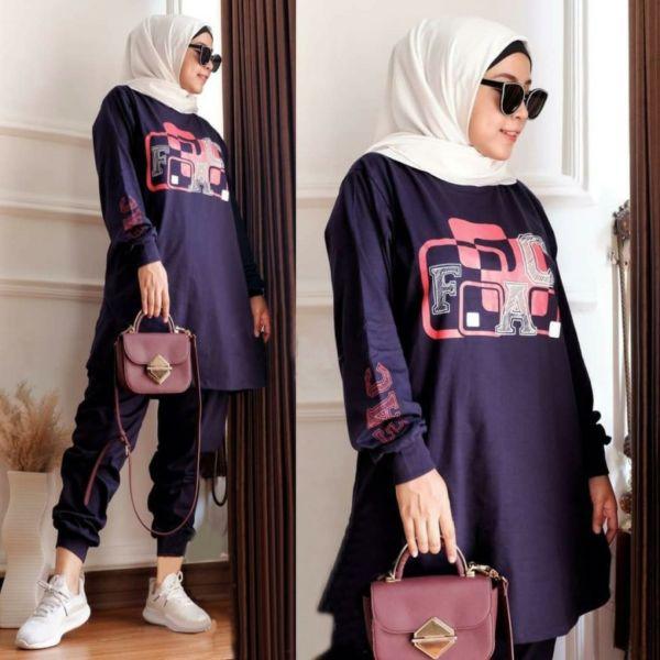 Setelan Baju dan Celana Panjang Wanita Big Size