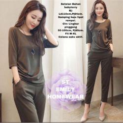 Setelan Baju dan Celana Wanita Homewear Modern