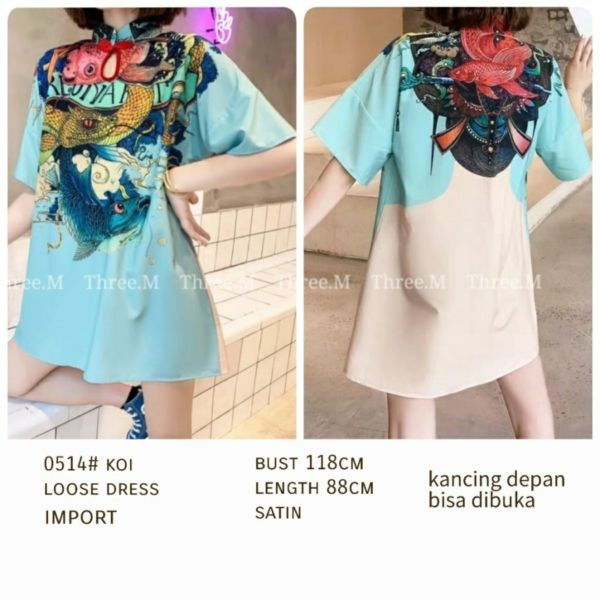 Baju Dress Pendek Longgar (Loose Dress) Cantik