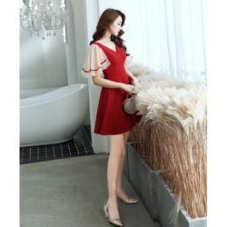 Baju Flare Mini Dress Pendek Pesta Model Korea