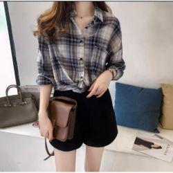 Baju Kemeja Wanita Motif Garis Model Terbaru