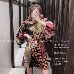 Baju Mini Dress Pendek Motif Bunga Cantik