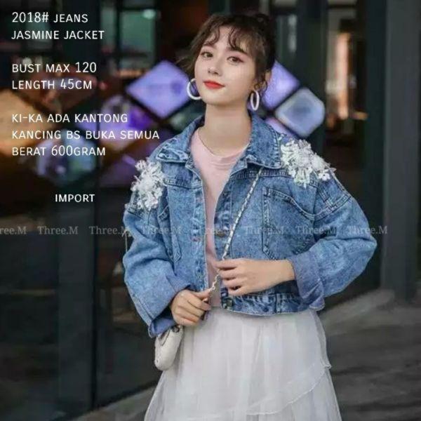 Jaket Jeans Wanita Model Korea Cantik Terbaru