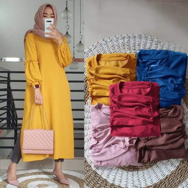 Model Baju Tunik Lengan Panjang Ukuran Jumbo