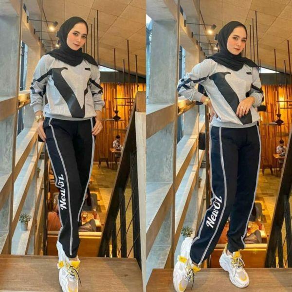 One Set Jogging Wanita Modis Model Terbaru