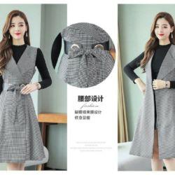 Setelan Baju Inner dan Dress Rompi Model Terbaru