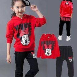 Setelan Sweater Hoodie dan Celana Panjang Anak Cewek