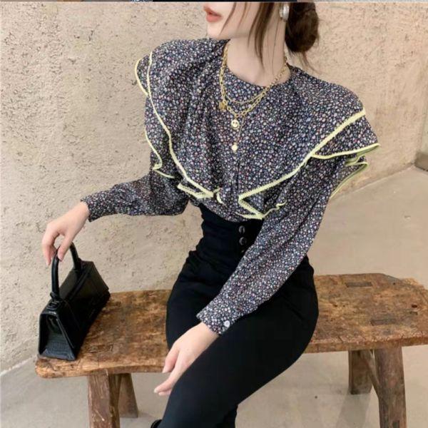 Baju Atasan Wanita Blouse Layer Coral Modern