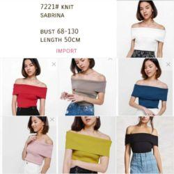 Baju Atasan Wanita Rajut Knit Top Model Sabrina Terbaru