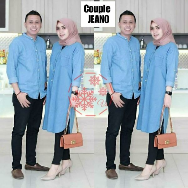Baju Couple Tunik dan Kemeja Lengan Panjang Modern