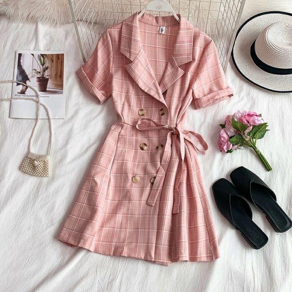 Baju Dress Pendek Gaya Korea Cantik Good Quality