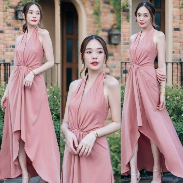 Baju Dress Scuba Pesta Bridesmaid Cantik Modern